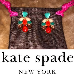 Kate Spade multi color drop cocktail earrings